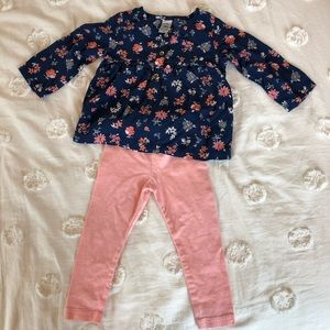 Carter's 18M Floral Top and Leggings